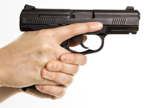 Female Holding Handgun