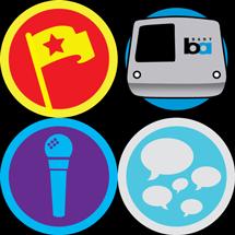 Foursquare BART badge