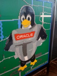 Tux in LEGOs from OpenWorld