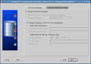 There's the Enterprise Manager configuration.
