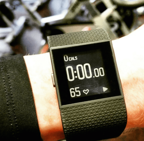Spinning up the Fitbit Surge in the gym