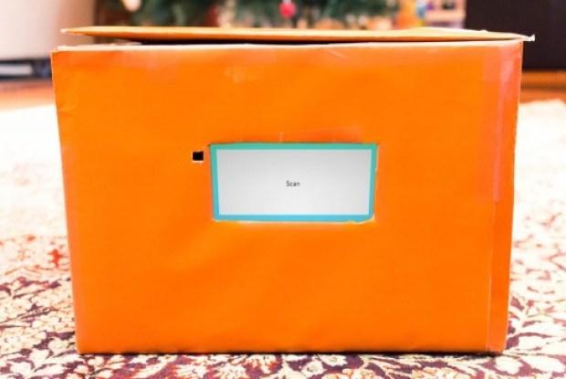 SafeDrop box with scanner