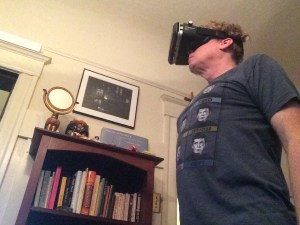 John staring boldly into the future of VR