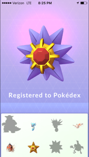 Caught the Starmie! The jewel of the sea.