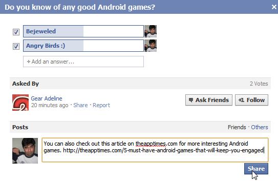 longer facebook answers