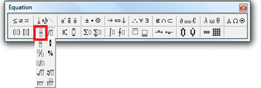How to Write Fractions with a Horizontal Bar in Word 2010