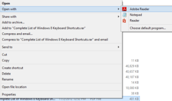 How to Open PDF Documents in Adobe Reader in Windows 8
