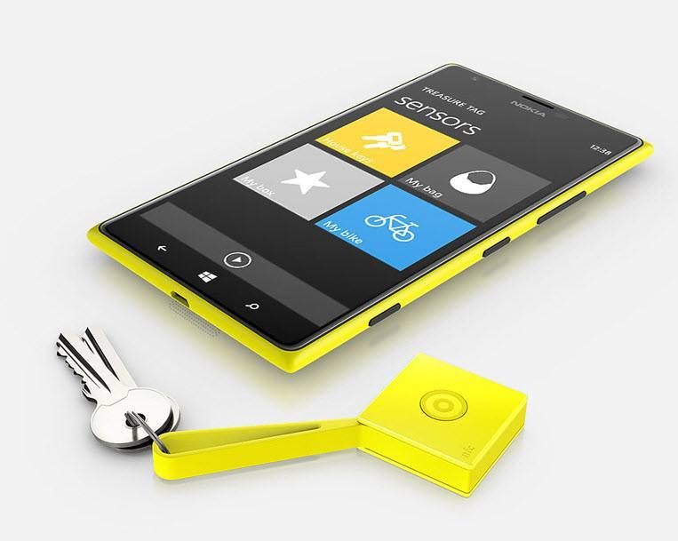 Nokia Treasure Tag Yellow
