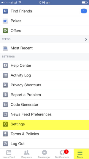 How to Disable Facebook Email via iPhone settings