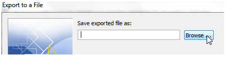 save exported file as