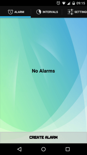 Wave Alarm App Interface