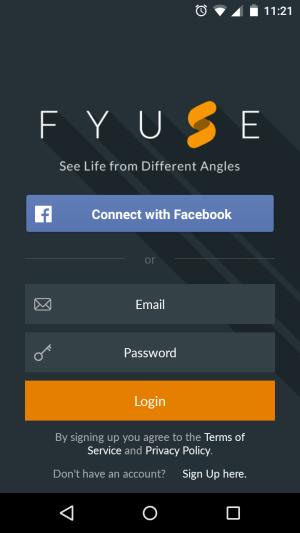 fyuse app sign in