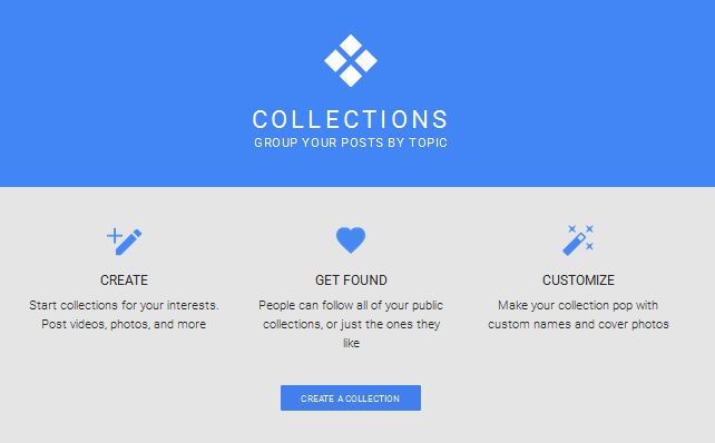 google plus collections home page