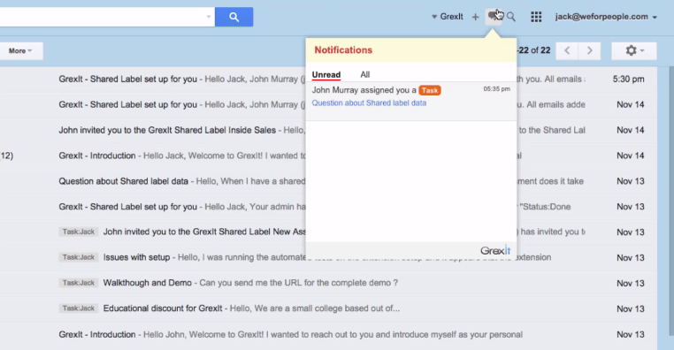 grexit - task notification in gmail