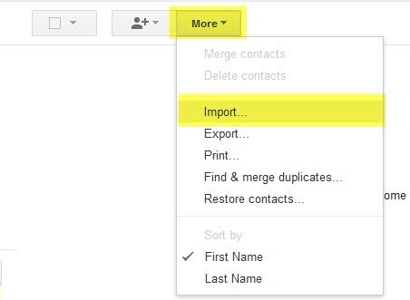 import iphone contacts to gmail