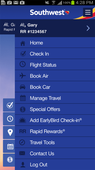 Southwest for Android Airline apps