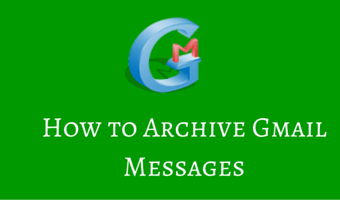 How to Archive Gmail Messages