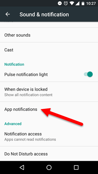App notifications