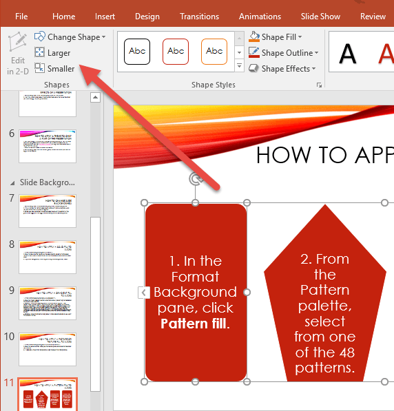 How to Change the Size of Individual Shapes in a SmartArt Graphic
