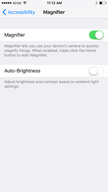 magnifier ios 10 tips