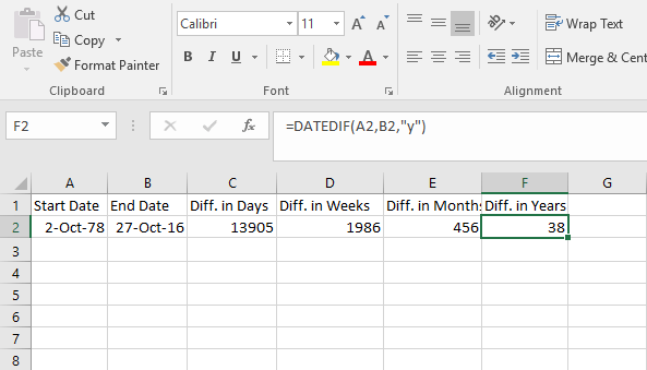how-to-calculate-number-of-years-between-two-dates-in-excel-using-datedif