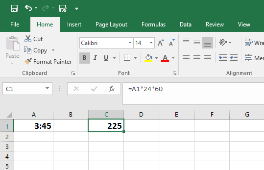 How to Convert Time to Minutes in Excel