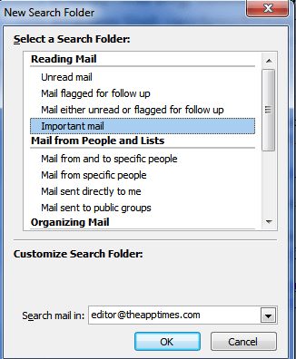 Outlook 2010: Find Messages Instantly Using the Search Folder