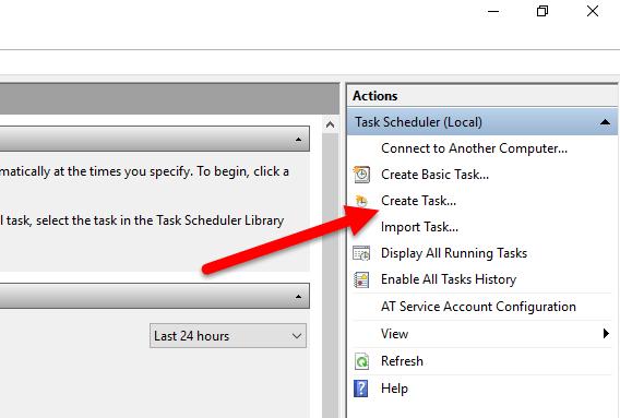 Create task in TS