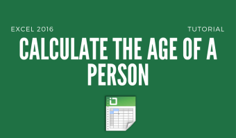 How to Calculate the Age of a Person in Excel