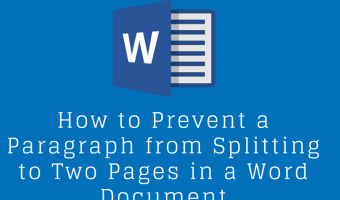How to Prevent a Paragraph from Splitting to Two Pages in a Word Document