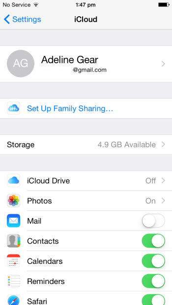Setup family Sharing in iOS 8
