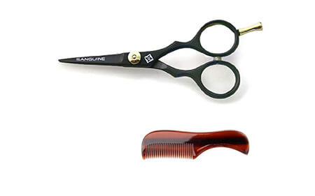 "Professional Moustache Scissors and Beard Trimming Scissors (Extremely Sharp 5"")"
