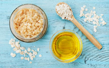oatmeal brown sugar and coconut oil