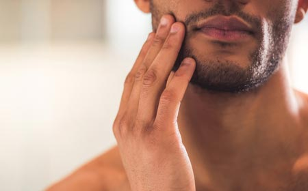Men growing beard