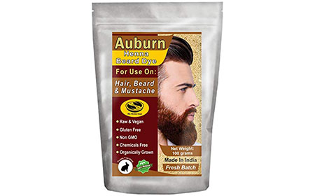 Auburn Henna Beard Dye for Men