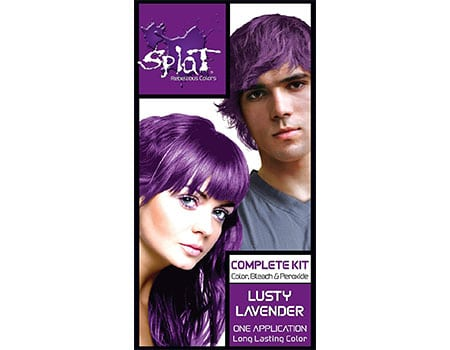 purple hair dye for dark hair without bleaching