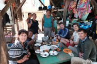 Visit in St. Cruz, Gulf of Davao, Mindanao, Philippines - Erik Abrahamsson, Erika Schagatay, Orio Johansson, Itamar Grinberg