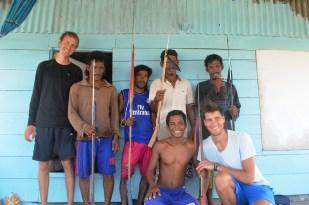 Sama DIlaut speargun fishermen in Sampela, Sulawesi, Indonesia