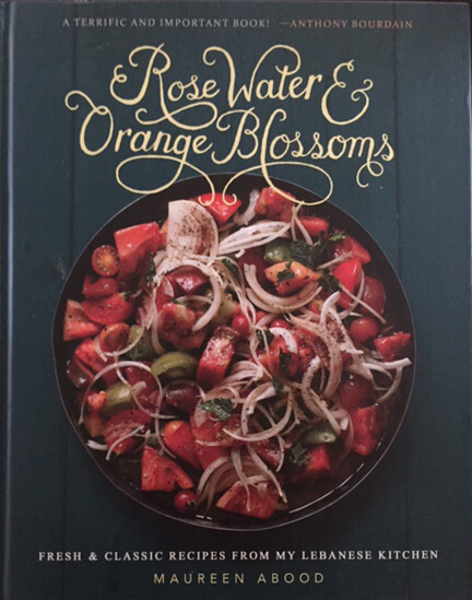 The cover of Maureen Abood's new book Rose Water & Orange Blossoms