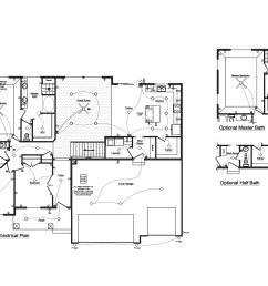 1 floor plan with electrical layout [ 1500 x 1036 Pixel ]