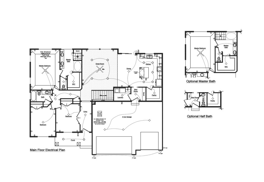 medium resolution of 1 floor plan with electrical layout