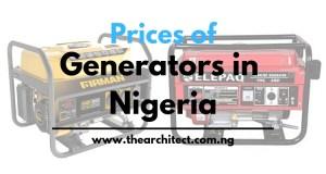 Prices of Generators in Nigeria