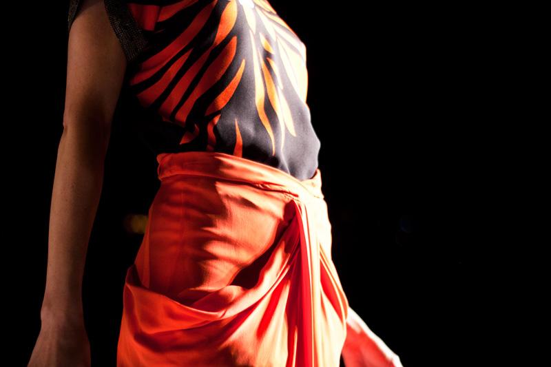 Intricate skirt details