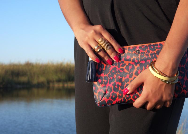 A little leopard print doesn't hurt - Ann Taylor Loft Clutch