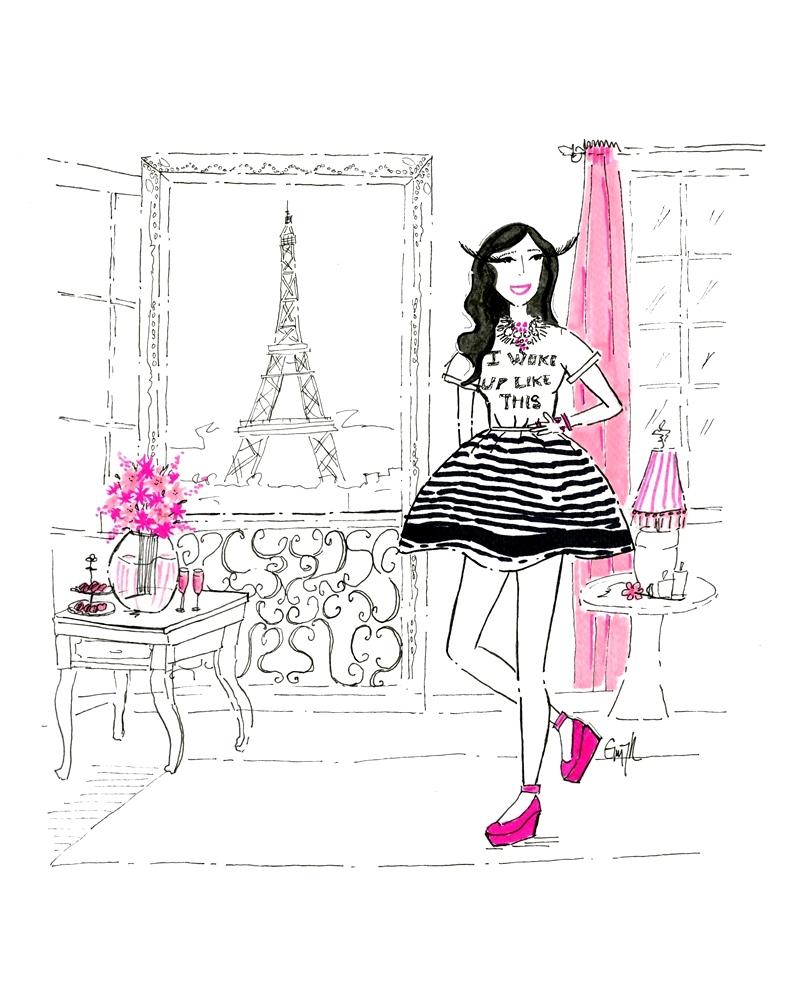 A parisian style custom illustration