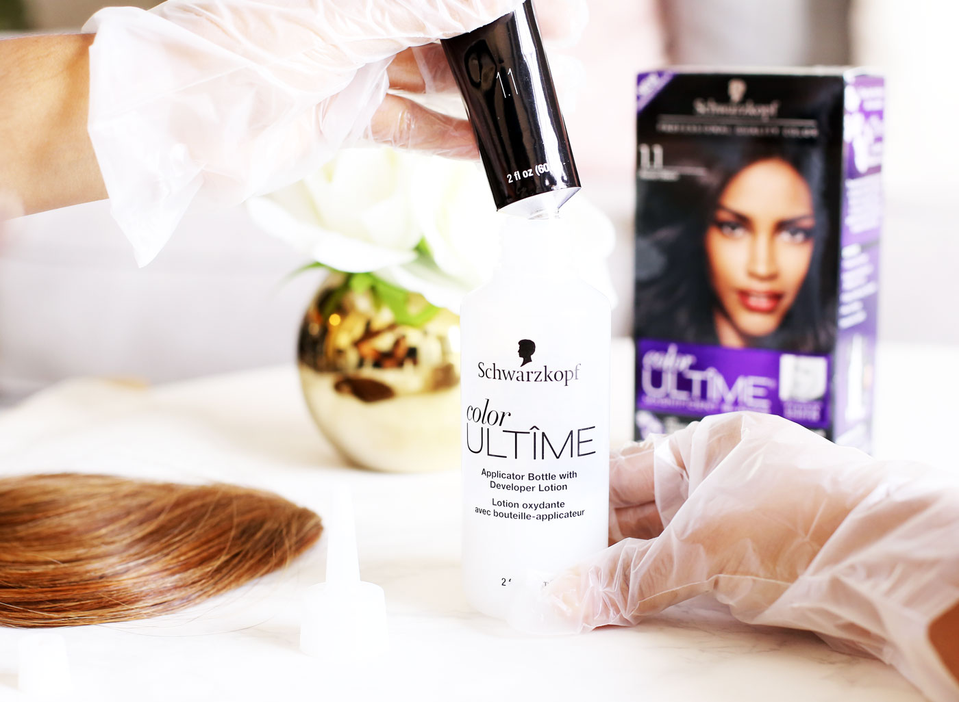 How to Dye Clip-On Bangs with Schwarzkopf Color Ultime