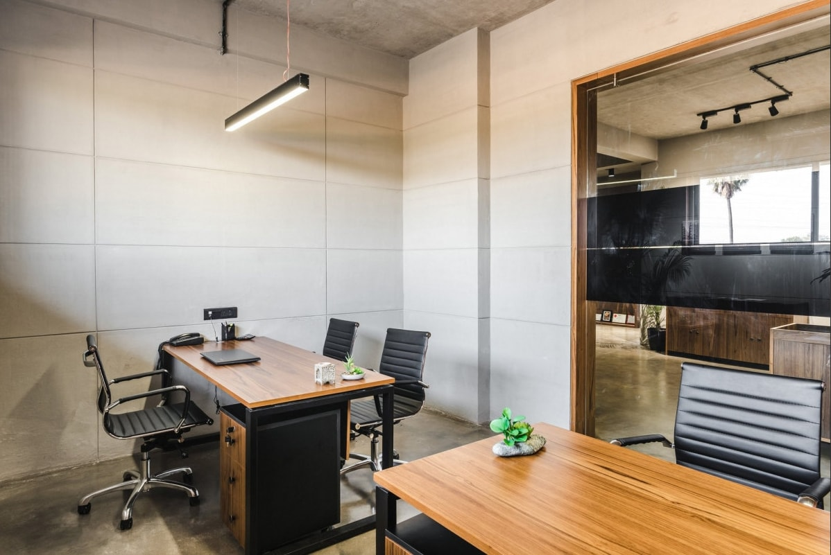 office chair in surat hanging with stand space minimal and contemporary approach real estate