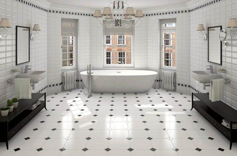 creative bathroom floor tiles design