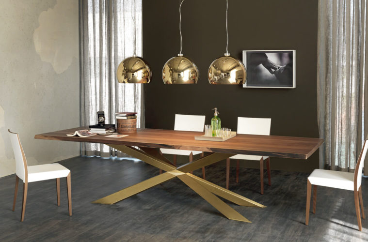 stylist modern wooden dining table