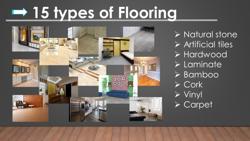 Guides to Interior finishes-Flooring types